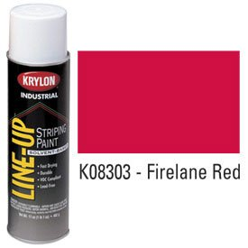 KRYLON K08303 Krylon Industrial Line-Up Sb Pavement Striping Paint Firelane Red - Lot of 12 by Krylon