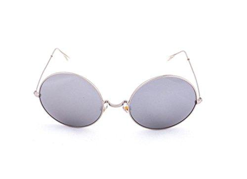 Sol De Mujeres De Y De Gafas Retro Caja Silverframewhitereflective Anti UV Redonda Metal Caja GSHGA Polarizadas Gafas Sol Grande Hombres silverframewhitereflective Sol Gafas 54w4Rpq