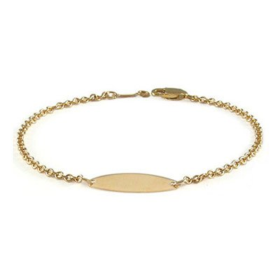 Baby And Toddler Jewelry - 5 3/4 Inches 14K Yellow Gold ID Bracelet by Loveivy