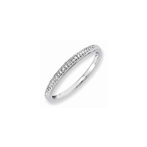 14k Semi-Mounting Wg Wedding Band, No Center Stone Included (Mountings 14k Wg)