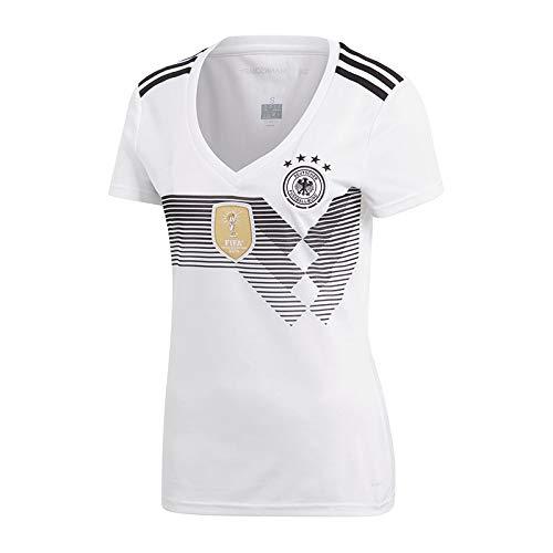 ERICK 2018 Damen Deutschland blanko Fußball-Trikot, Heimtrikot, mit Vier-Sterne-Motiv, Weiß Weiß
