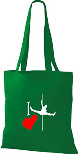 Krokodil - Bolso de tela de algodón para mujer verde - kelly