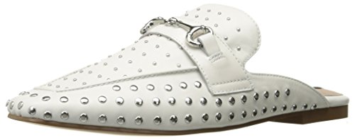 Steven By Steve Madden Donna Razzi-l Mocassino Slip-on In Pelle Bianca