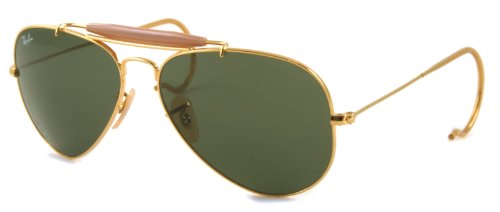 Ray Ban Sunglasses RB3030 Outdoorsman L0216 Arista/G-15XLT, - Best Aviator Ban Selling Sunglasses Ray