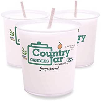 Country Jar Green Tea and Lemongrass Votive Sampler (3-Pack) 100% Natural Soy (3 OR More Sale!)