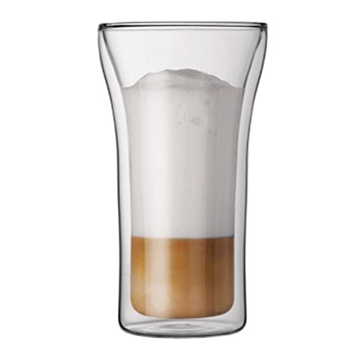 Hot And Cold-resistant Glass Transparent Double Cappuccino Creative Cup