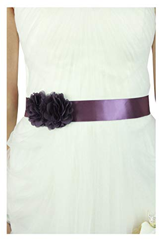 Simple Flowers Belts/sashes for Wedding/party/bridal Dress (purple)