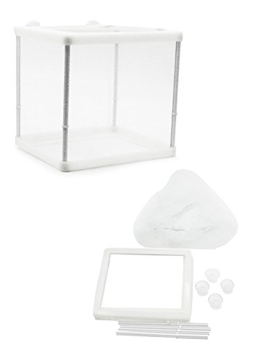 ZOSEN Aquarium Fish Breeder Box Isolation Box Breeder Hatchery Incubator (white) (Fish Tank Fry Holder)