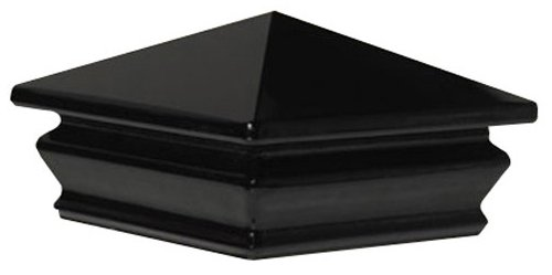 Woodway Products 870.3084 4-by-4-Inch Glass Pyramid Post Cap, 9-Pack, Black
