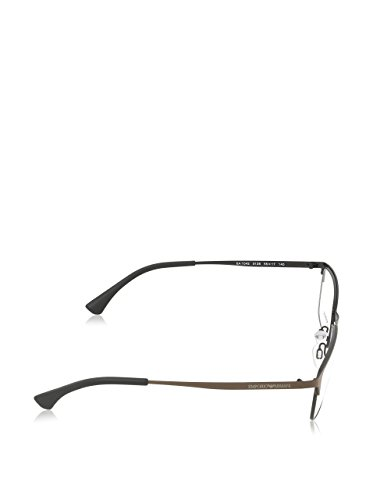 Emporio Armani Montures de lunettes 1042 Pour Homme Matte Gunmetal / Black / Black, 53mm 3128: Matte Brown / Brown / Black