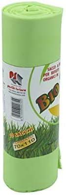 VIRSUS Sacchi Raccolta Umido e Organico cm 70x110 100 Pezzi biodegradabili e compostabili 110 Litri