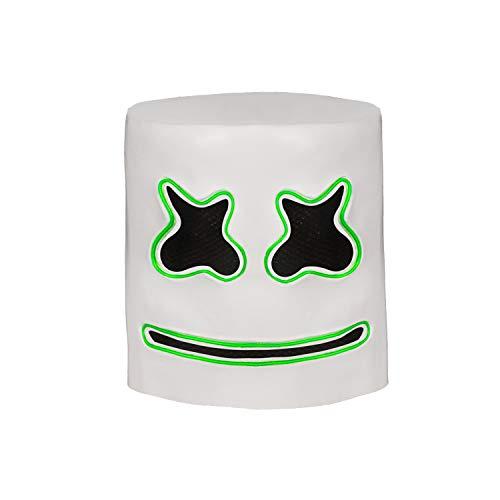(Marshmello Helmet for Halloween Mask Prop Full Head Mask Latex)