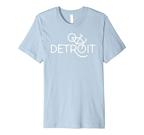 Detroit Michigan Bike Shirt Cyclist Gift Bicycle T-Shirt