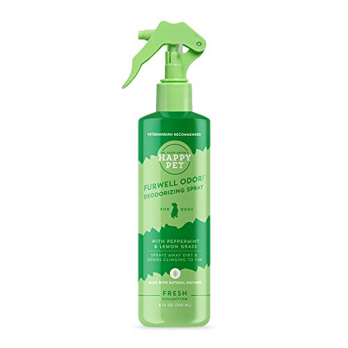 Happy Pet Furwell Odor Deodorizing Spray | Waterless, No Rinse Dog Spray | All Natural and Non-Toxic | Vet Formulated by Dr. Evan Antin | 8 oz