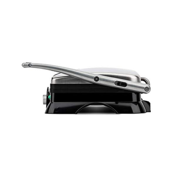 H.Koenig GR20 Bistecchiera/Panini Maker/Grill, Superficie di cottura 29,7x23cm, Acciaio Inox, 2000W 2