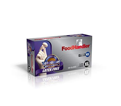 FoodHandler 103-TNQ18 FoodHandler TekNique, Synthetic Vinyl, X-Large, Natural (Pack of 400) by FoodHandler (Image #1)