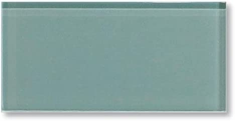 Sample Color Swatch Of Seaside Aqua Blue Gray 3x6 Glass Subway Tiles For Kitchen Backsplash Tub Surround From Rocky Point Tile Amazon Com