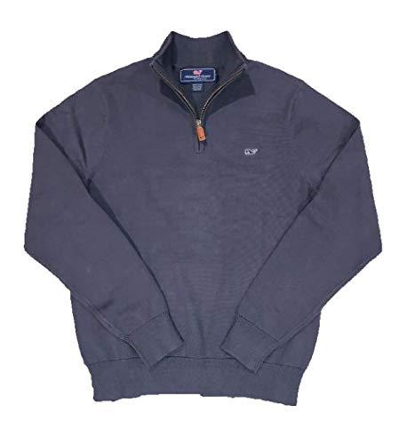 Vineyard Vines Men's Cotton 1/4-Zip Pullover Sweater - Moonshine (Medium, Hyannis) from Vineyard Vines