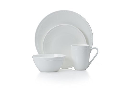Mikasa Loria 16-Piece Bone China Dinnerware Set, Service for (Mikasa White Dish)