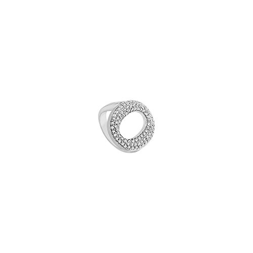 Diamond O Ring 14K White Gold 0.50 CT Diamonds ()
