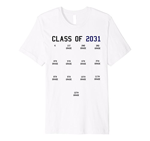 Class of 2031 Graduation T-shirt with Space for Handprints ()