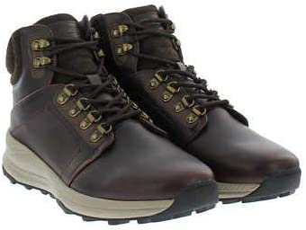 Khombus Men s Leather Memory Foam Lightweight Hiker Boot Brown 11