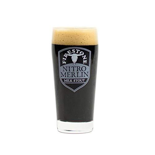 Milk Stout Beer - Firestone Walker Beer Wine Alcohol Glass (Nitro Merlin Milk Stout 16oz Glass)
