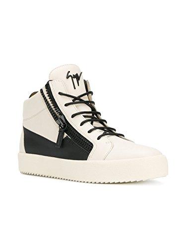 Giuseppe Zanotti Design Homme RU70011006 Blanc Cuir Baskets Montantes