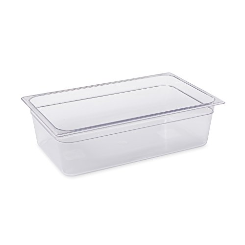 Rubbermaid Commercial Products Cold Food Insert Pan for Restaurants/Kitchens/Cafeterias, Full Size, 6 Inches Deep, Clear - Pans Polycarbonate Table Steam
