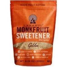 Lakanto Sugar Free Golden Monkfruit Sweetener, 8.29 Ounce - 8 per case.