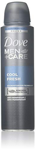 - Set of 6 Dove Men + Care Cool Fresh Spray Deodorant & Anti-Perspirant 150ml / 5.07 Oz