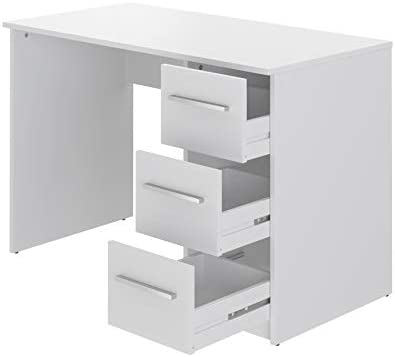 Marca Amazon -Movian Idro Modern - Escritorio con 3 cajones, 56 x 110 x 73,5 cm (blanco) 25