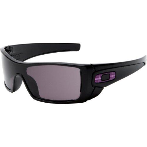 Oakley Men's Batwolf Rectangular Sunglasses,Polished Black Frame/Warm Grey Lens,one ()