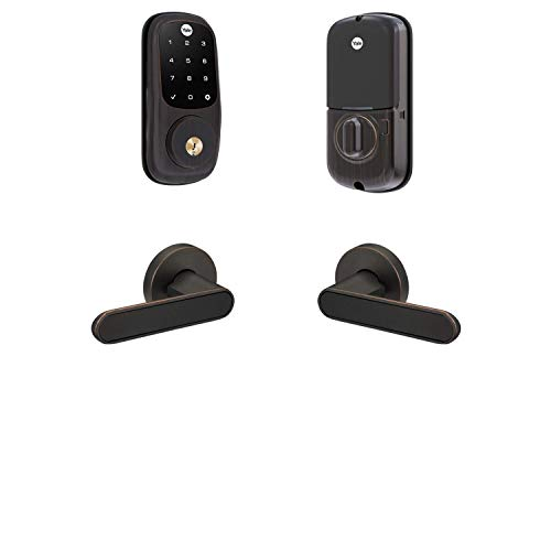 Yale Security B-YRD226-ZW-KC-0BP Yale Assure Lock Z-Wave Kincaid Works with Ring Alarm, Smartthings, and Wink Smart Touchscreen Deadbolt with Matching Lever, Oil-Rubbed Bronze