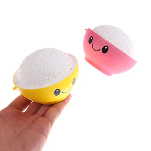 1 piece Kawaii Jumbo Rice Bowl Squishy Slow Rising Scented Bread Bun Cake Kids Gift Wholesale Educational Toys For Children Gift
