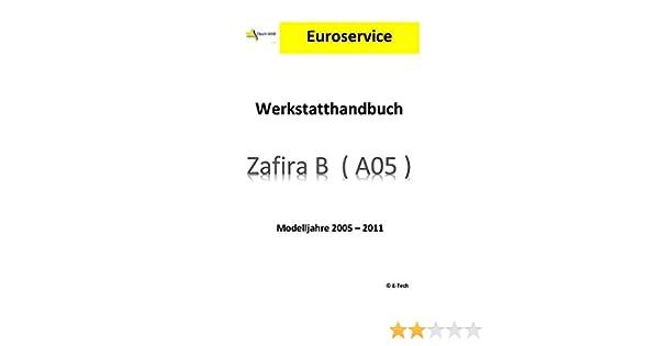 Reparación instrucciones/taller manual (CD) Opel Zafira B: Amazon.es: Coche y moto
