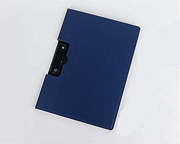 Hello X A4 PP Carpeta archivadora archivador de dibujo tabla de escritura Heavy Duty Clip (azul): Amazon.es: Hogar