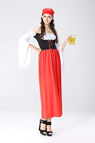 Halloween Costumes Halloween Costumes Oktoberfest Beer Costumes Maid Maid Wear Bavarian Traditional Costumes, Style 1, M]()