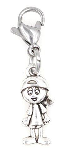 Mini Boy with Ball Cap Clip on Charm ZC 99S