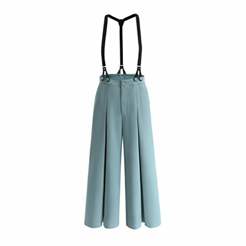 Des Sangle Larges Two large Large Porter Overalls Strap Bleu Leg Jambes Winwintom RTro Pantalon Pantalons Pour Jumpsuit LaChe Vintage Pantalon Deux Pantalon Femmes Wear T8IqqP