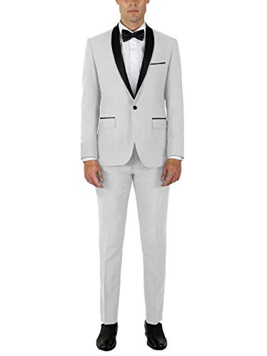 Alain Dupetit Men's Tuxdeo in Many Colors (White, 42S/36W)
