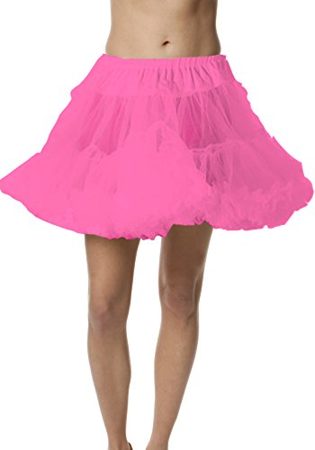 Petticoat Crinoline; Perfect adult tutu, princess tutu, or adult dance skirt. Also great as tulle skirt, short petticoat or with a vintage dresses. Tulle fabric - Hot Pink tutu