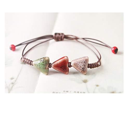 mic Porcelain Bracelet Handmade Colorful Unisex Geometric Shape Chinese Style (Triangle) ()