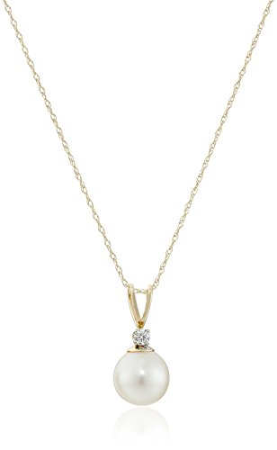 Freshwater Cultured Diamond Pendant Necklace