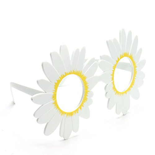 Fighting to Achieve Fashion Party Sunglasses Hawaii Themed Glasses Photo Booth Props, Daisy Glasses (Flower Shaped Sunglasses)