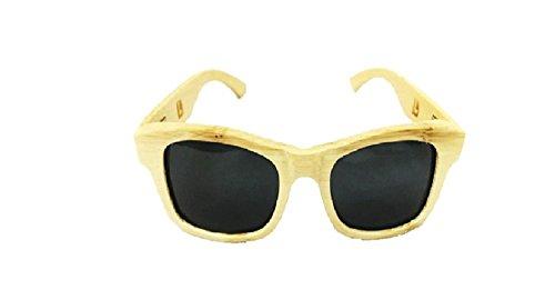 Sunglasses – Wood Sunglasses, UV 400 Polarized Bamboo Wood frame Vintage Sunglasses Eyewear for Women and Men (Wood/Bamboo, - Wood Veneer Sunglasses