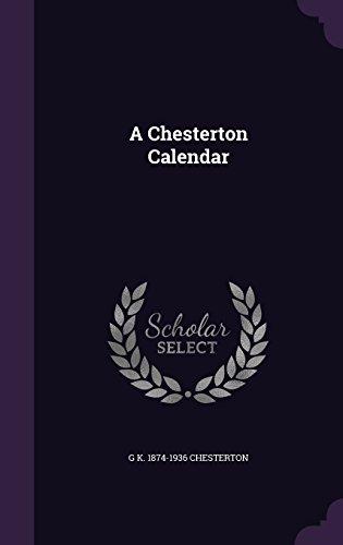 book cover of A Chesterton Calendar