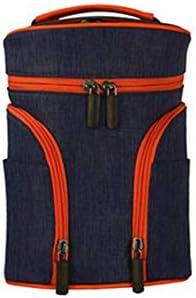 化粧ポーチ ドラムウォッシュバッグ旅行旅行のストレージバッグ防水ドライとウェットの分離バースバッグユニセックス ウォッシュバッグ (色 : 褐色, Size : 21.5x15.5x14cm)