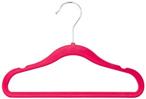 AmazonBasics Kids Velvet Hangers - 30-Pack, - And Kids Pink