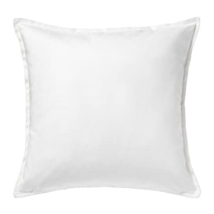 Ikea Gurli - Funda para cojín de color blanco, de 50 cm x 50 cm, Pack de 2